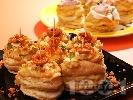 Рецепта Парти хапки от бутер тесто с грахова паста
